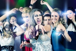 Prom group dancing