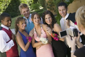 Group of friends prom group